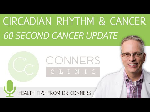 Circadian Rhythm and Cancer - 60 Second Cancer Update with Dr. Kevin Conners | Conners Clinic