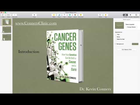 Dr. Kevin Conners - Cancer Genes Book - Introduction