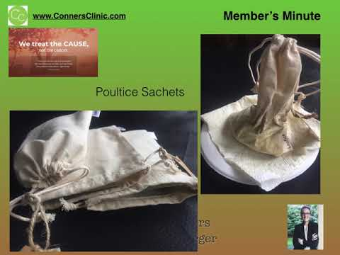 Dr. Kevin Conners - Member's Minute 7 - Cancer Poultice Sachets