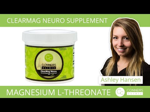 Magnesium L-Threonate in ClearMag Neuro - Conners Clinic Supplements