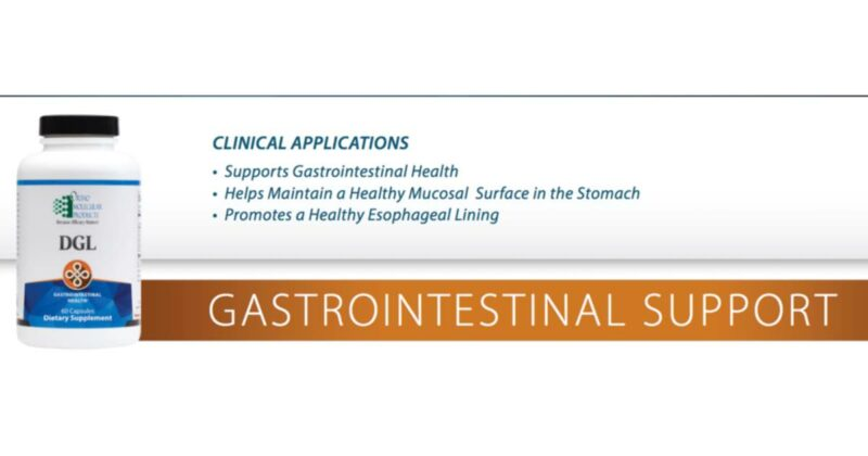 DGL orthomolecular supplement conners clinic gastrointestinal support store